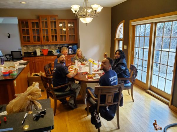 Moving Crew enjoying lunch - Brothers Moving & Storage - Waukesha, WI